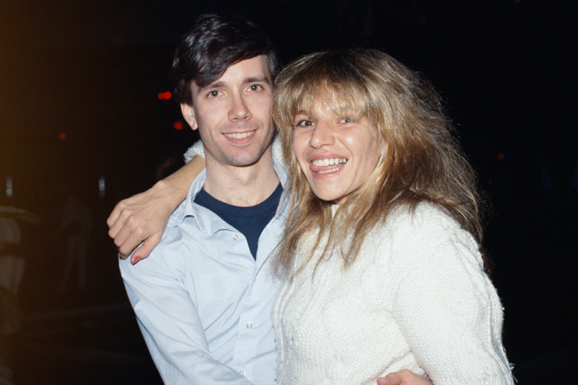 RR-With-Robin-Byrd-at-Fred-&-Tiff's-Wedding-Reception,-Plato's-Retreat,-NYC,-January-29,-1984