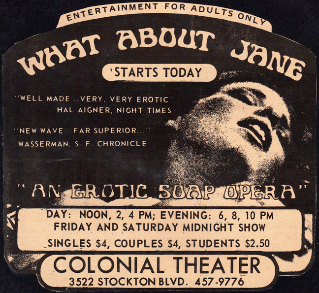 Colonial Theater, What About Jane