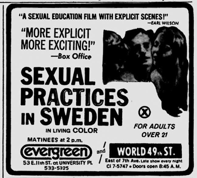 Sexual Practices in Sweden