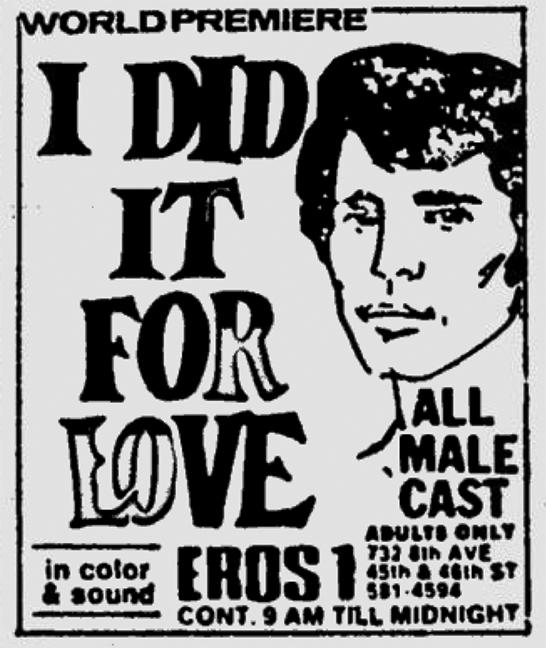 Eros, Adult Theaters