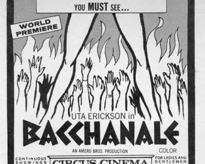 When Soft-Core Became Hard: <br />The Story of &#8216;Bacchanale&#8217; (1971)