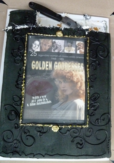 Golden Goddesses Cake