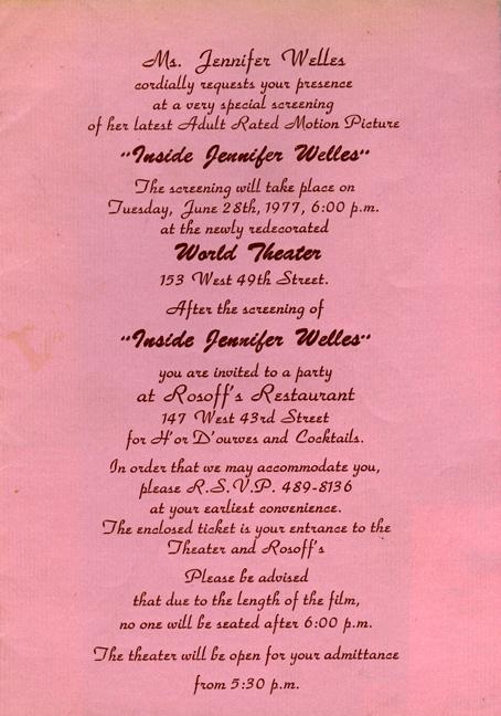 Inisde Jennifer Welles Marlene Willoughby