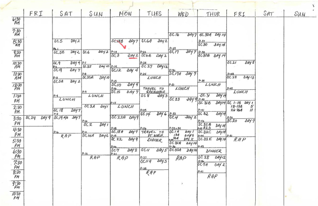 Anna Obsessed - Shooting schedule
