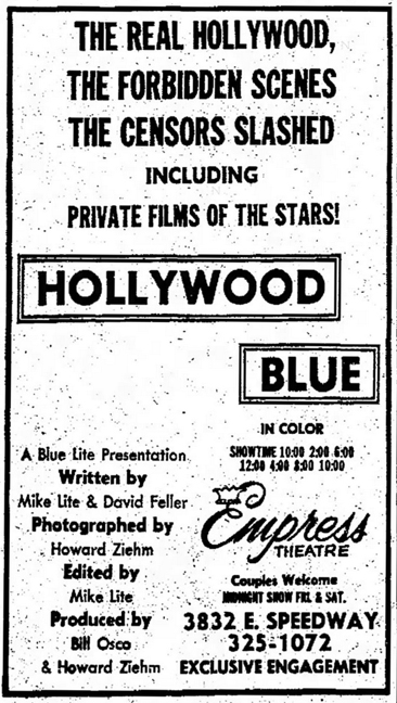 Hollywood Blue, Howard Ziehm, Bill Osco
