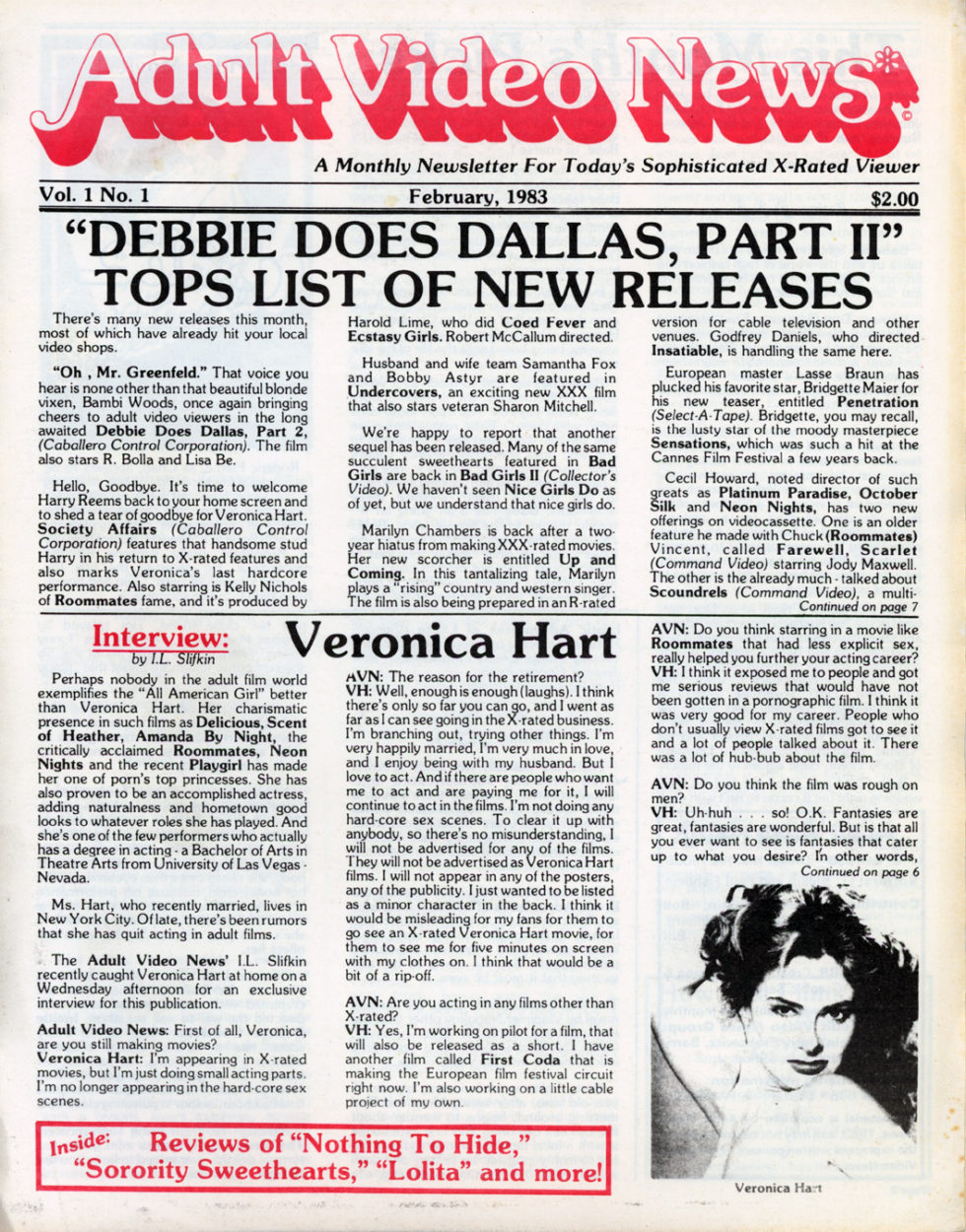 Adult Video News – The Industry Bible, The First Year (1983-84)