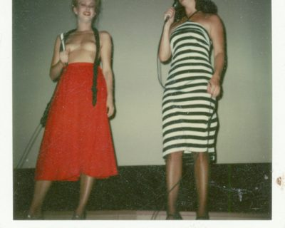 Lesllie Bovee and Serena at the Melody Burlesk: The Polaroids