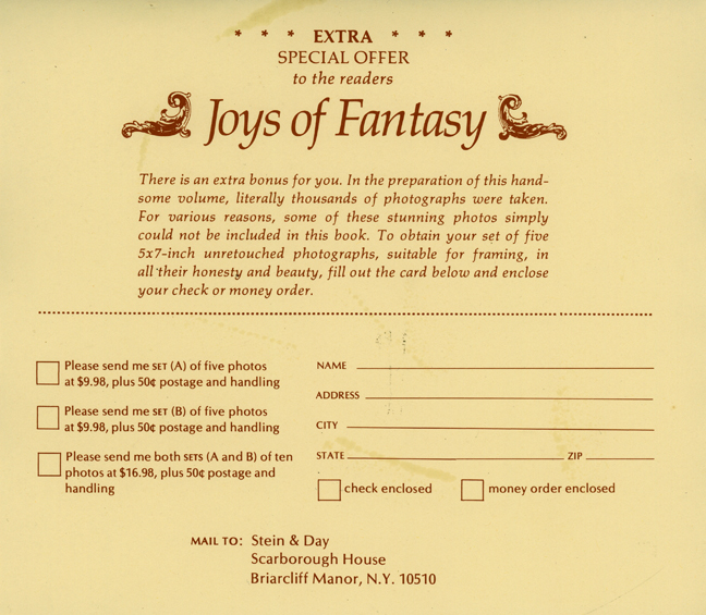 Joys of Fantasy