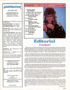 Adult Video News 08-86