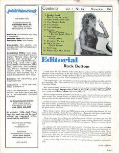 Adult Video News 11-86