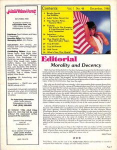 Adult Video News 12-86